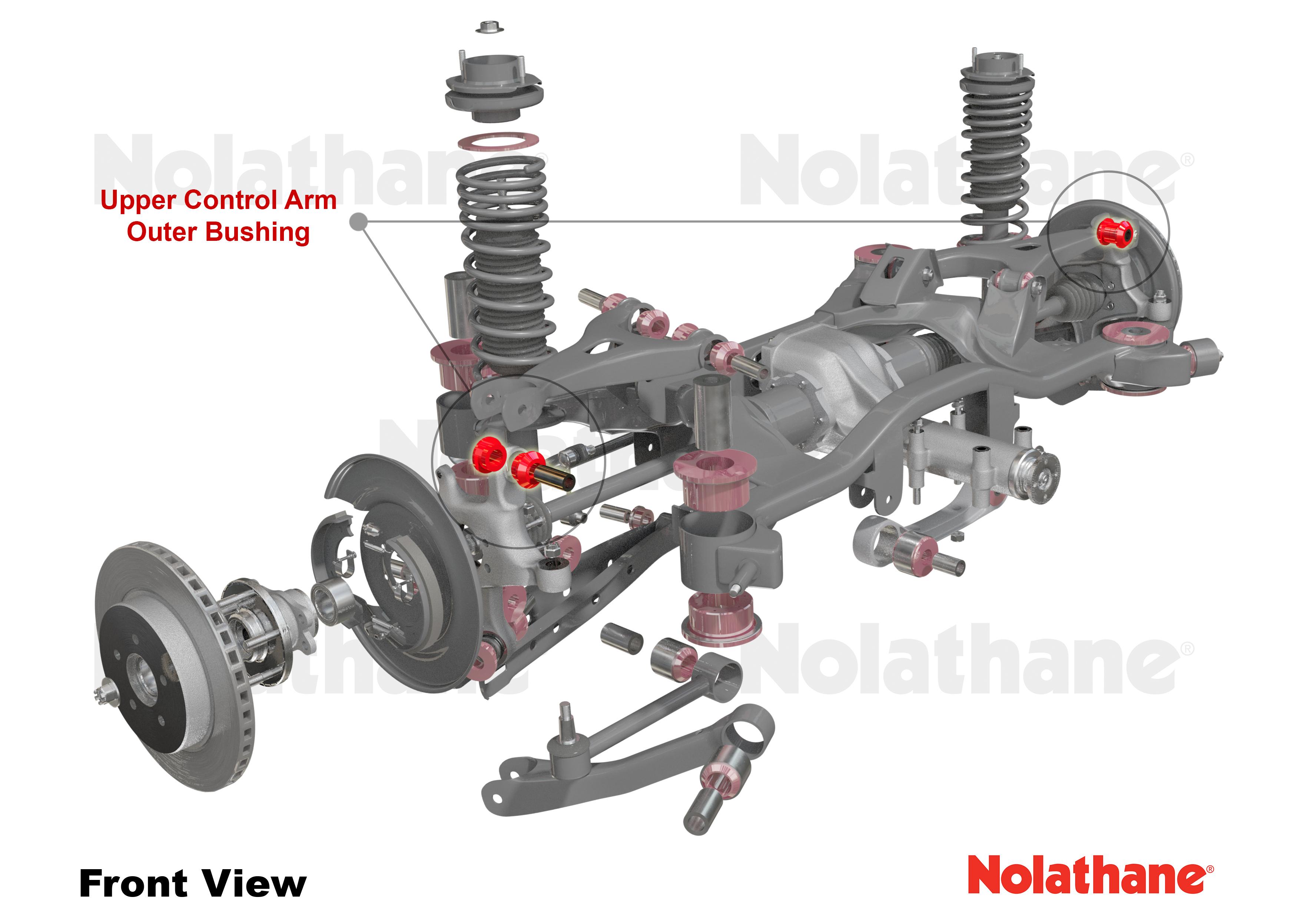 upper outer bushing Nolathane Rear Control arm