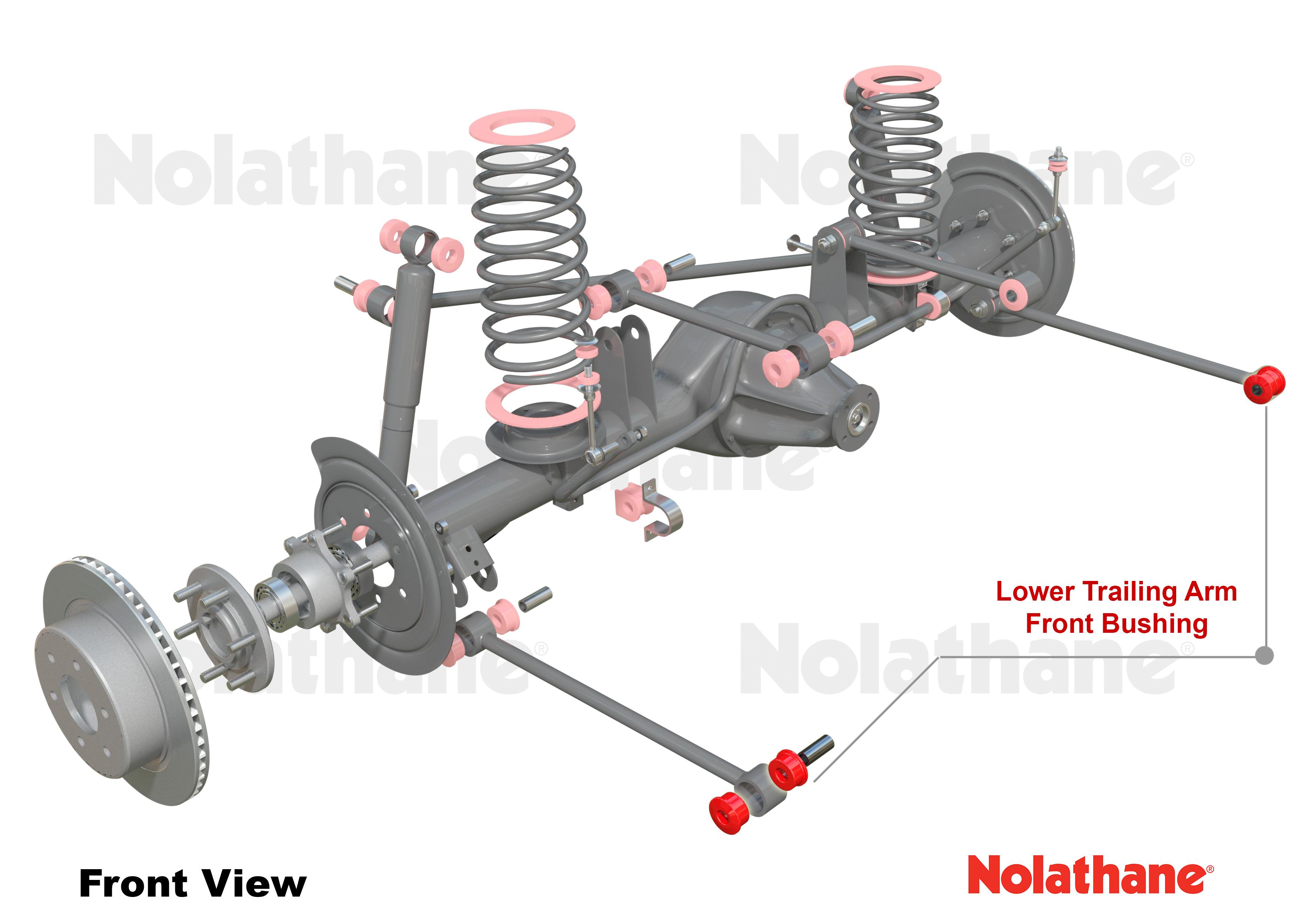 Nolathane Rear Trailing arm lower front bushing